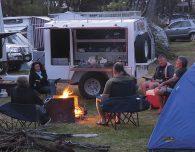 Sitting around the camp fire
